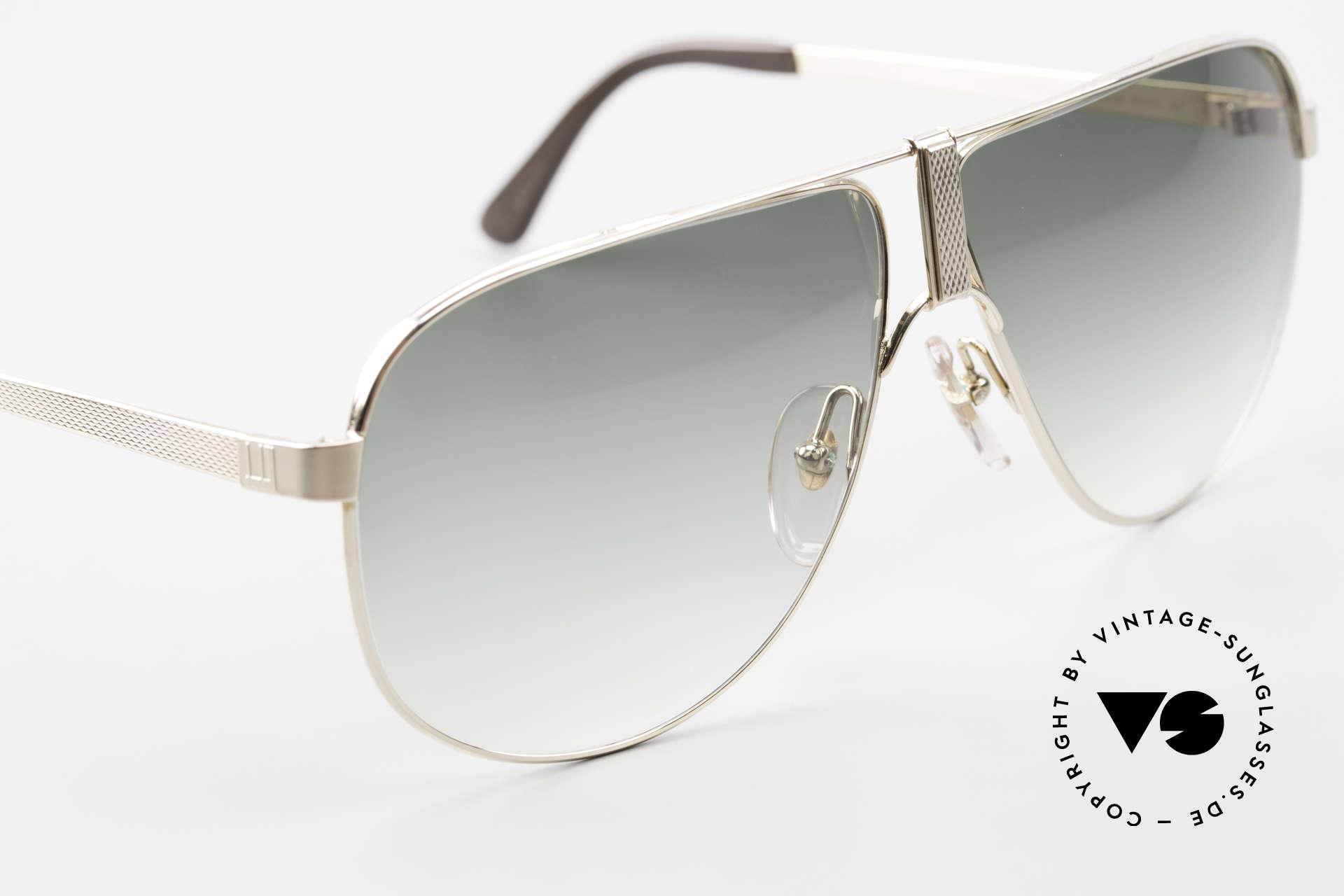 Dunhill 6043 Vergoldete Sonnenbrille 90er, derartige Qualität ist heutzutage kaum noch erhältlich, Passend für Herren