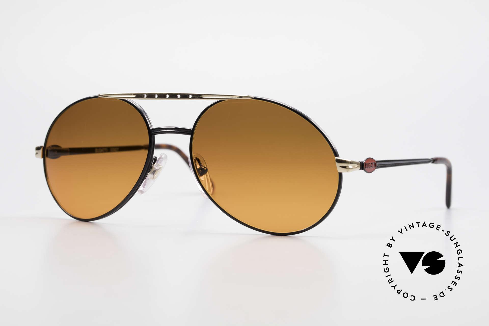 Bugatti 02927 Sunset Sonnengläser Rarität, sehr elegante Bugatti vintage Designer-Sonnenbrille, Passend für Herren