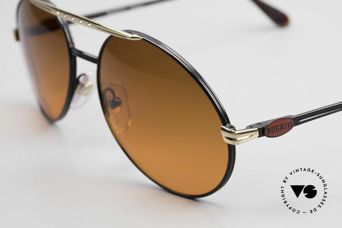 Bugatti 02927 Sunset Sonnengläser Rarität, beste Materialien in Top-Verarbeitung (Federgelenke), Passend für Herren
