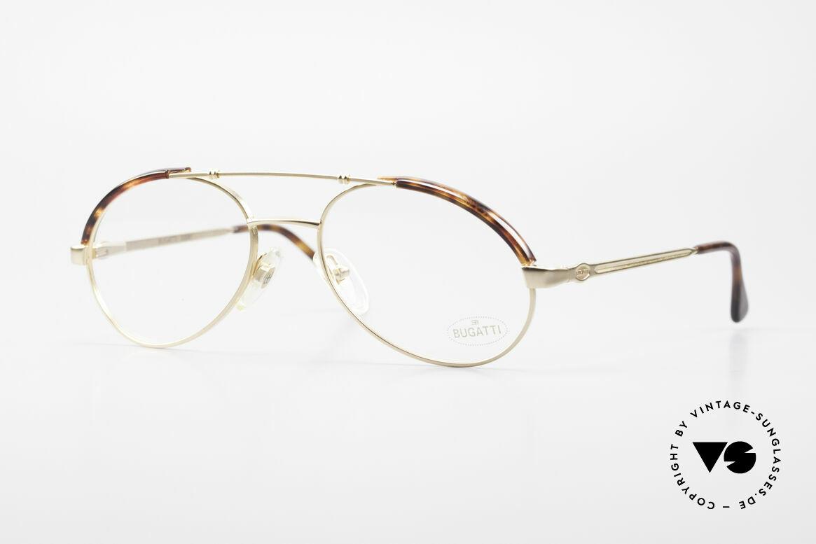 Bugatti 03081 90er Herren Brille True Vintage, sehr elegante Bugatti Herren Brillen-Fassung, Passend für Herren