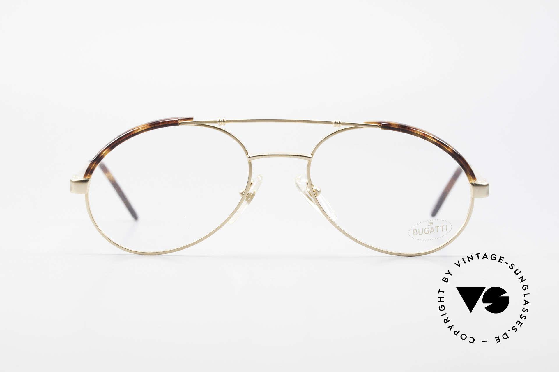 Bugatti 03081 90er Herren Brille True Vintage, Anfang der 90er Jahre in Frankreich produziert, Passend für Herren