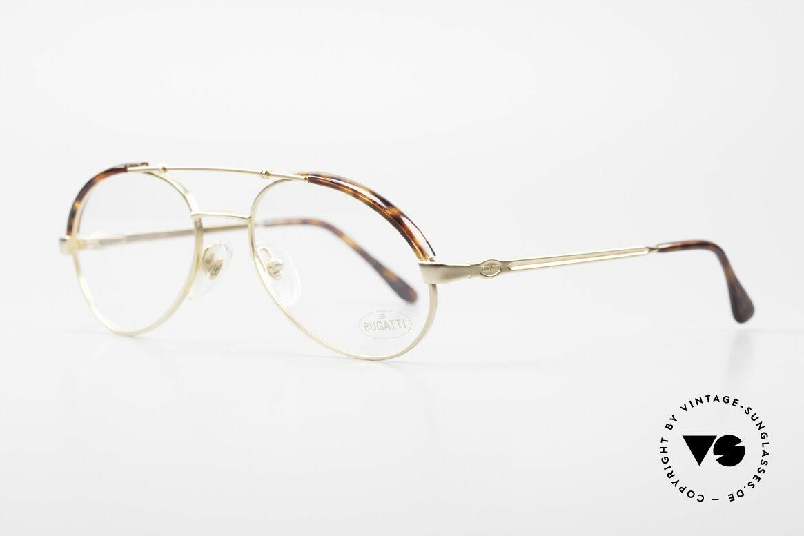 Bugatti 03081 90er Herren Brille True Vintage, hoher Komfort & Passform durch Federgelenke, Passend für Herren