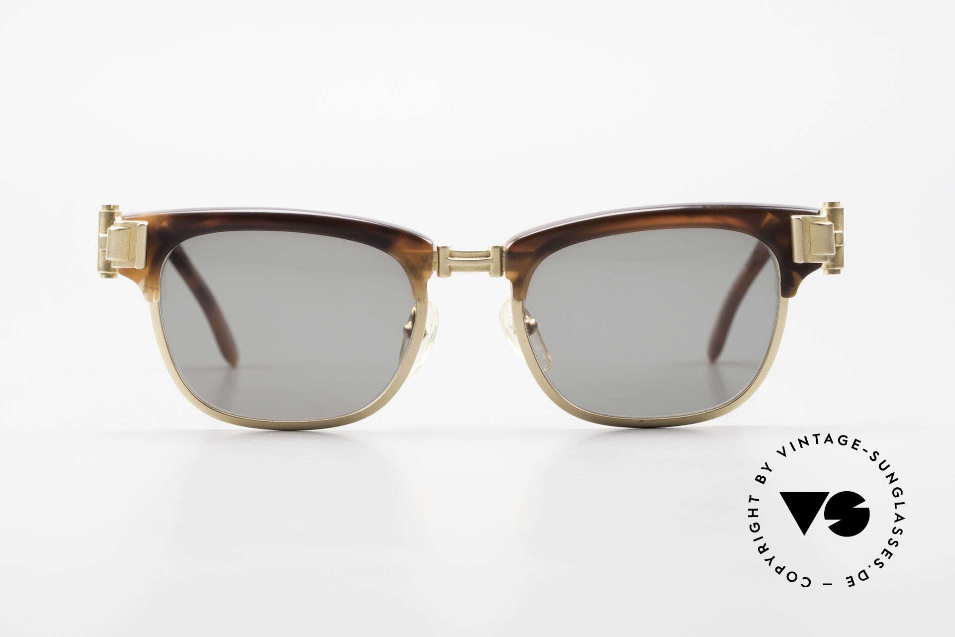 Jean Paul Gaultier 56-5202 JPG Designer Sonnenbrille, Bügelansätze in Form von massiven Türscharnieren, Passend für Herren und Damen