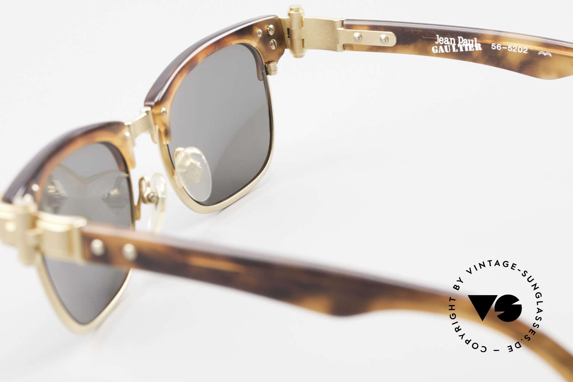 Jean Paul Gaultier 56-5202 JPG Designer Sonnenbrille, Größe: large, Passend für Herren und Damen
