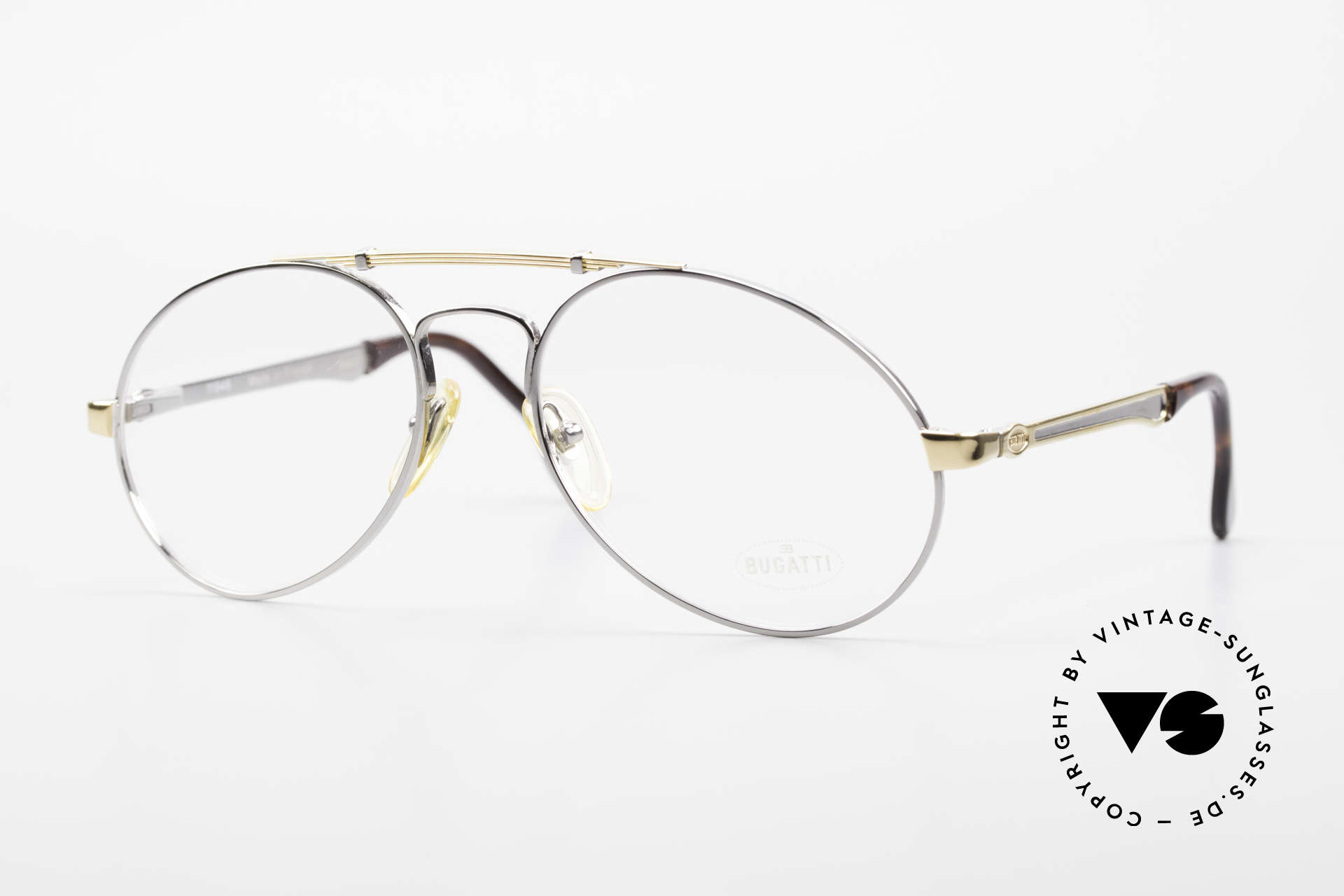 Bugatti 11946 Large 80er Herren Luxus Brille, 80er vintage Herren-Brillenfassung, LARGE 56/18, Passend für Herren