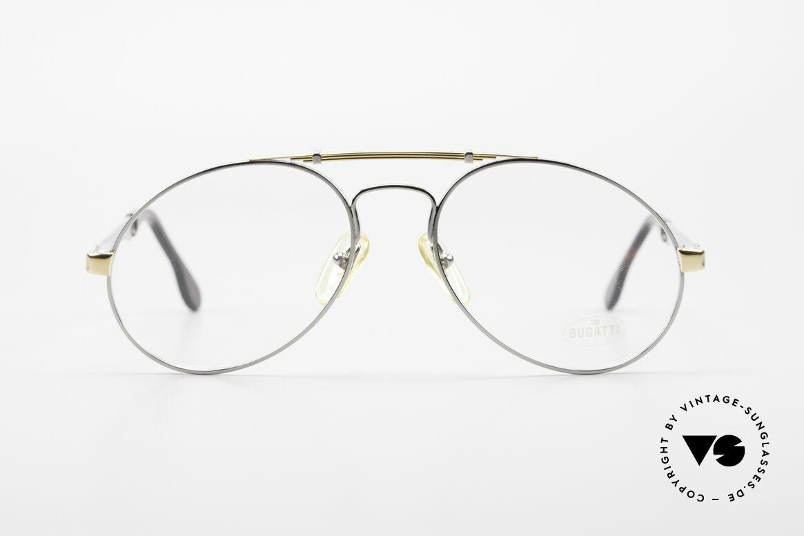 Bugatti 11946 Large 80er Herren Luxus Brille, der Bugatti-KLASSIKER in perfekter Vollendung, Passend für Herren