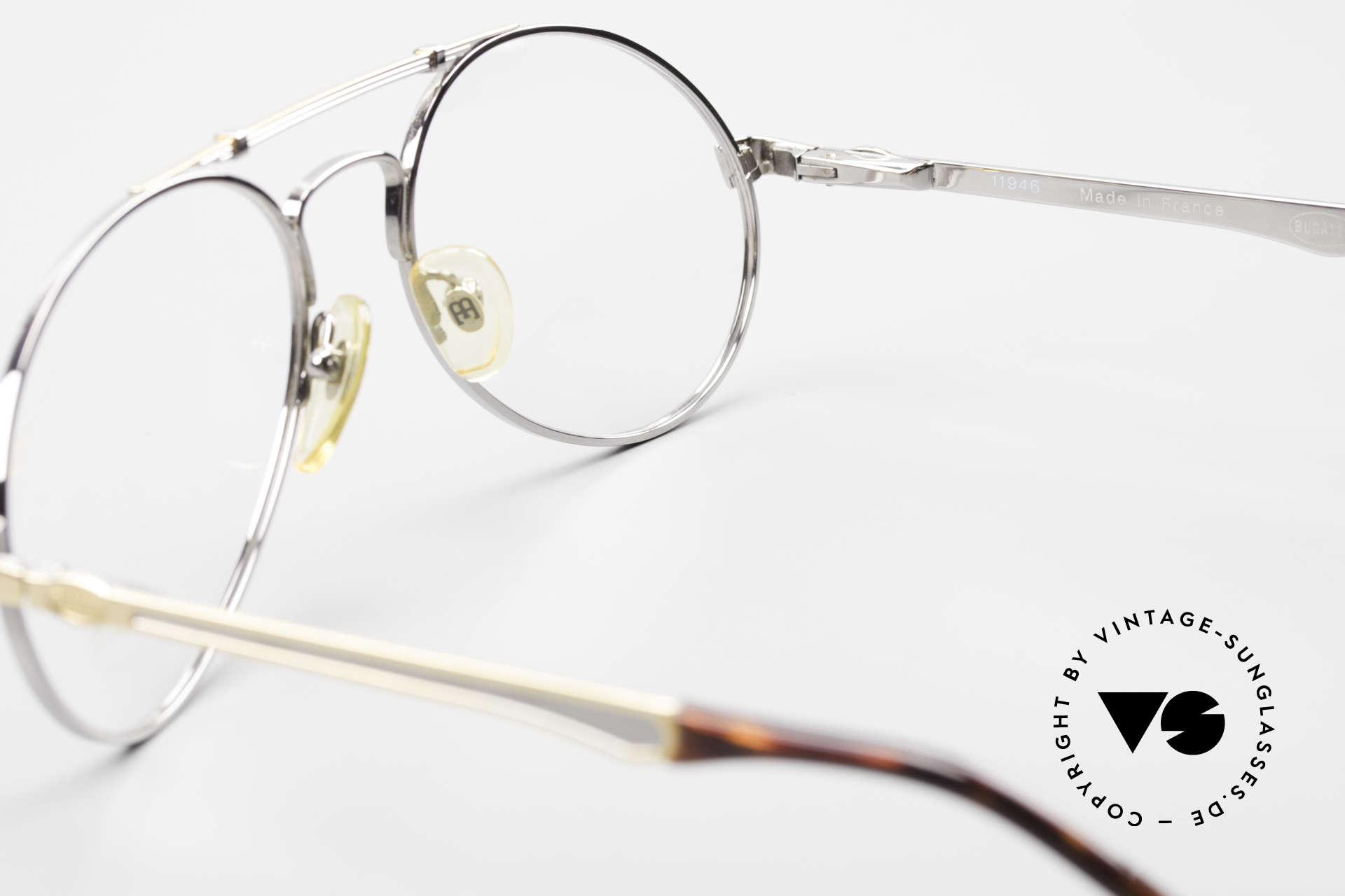 Bugatti 11946 Large 80er Herren Luxus Brille, KEINE Retrobrille; sondern alte ORIGINALbrille, Passend für Herren
