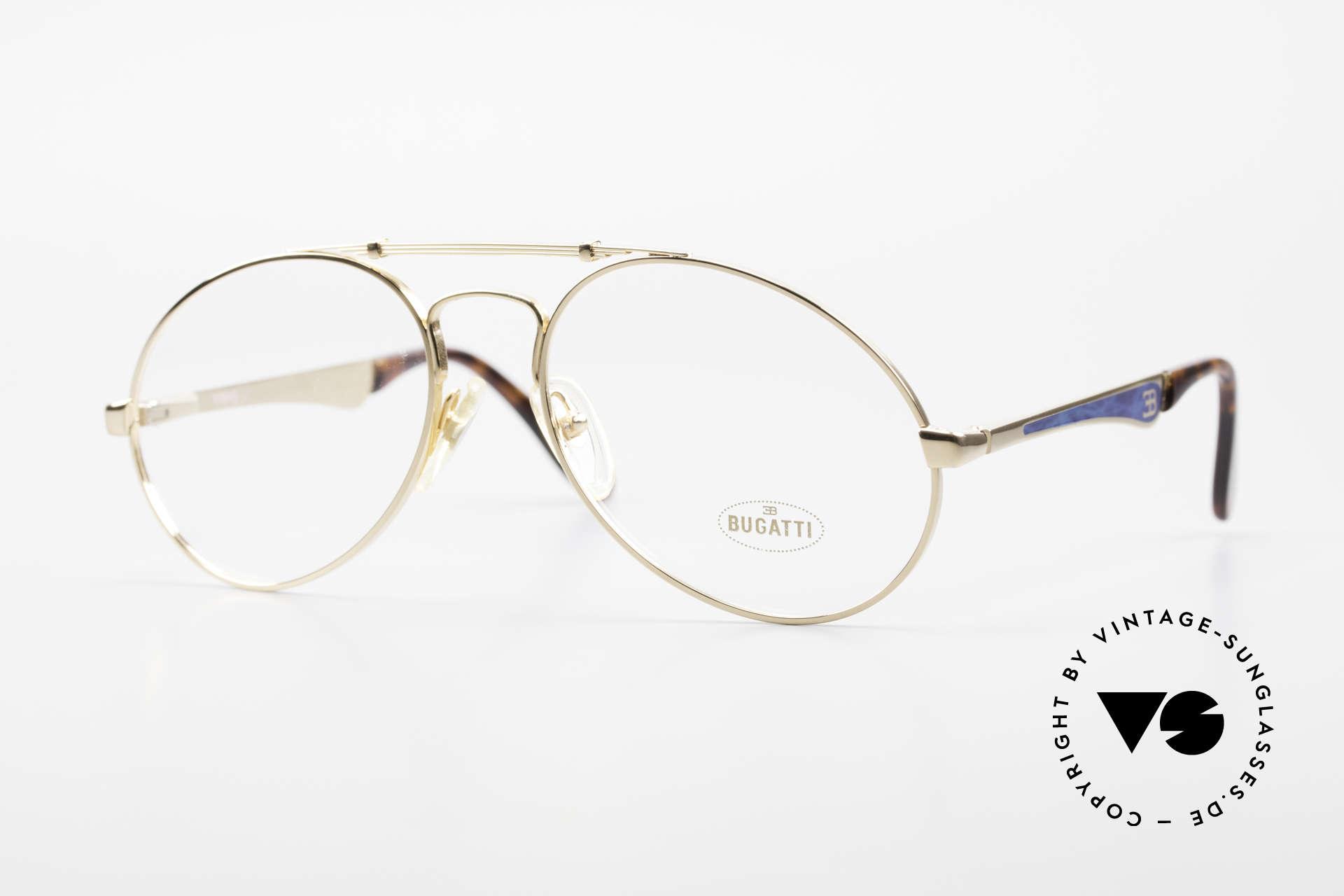 Bugatti 11945 80er Herren Luxus Brille Large, 80er vintage Herren-Brillenfassung, LARGE 56/18, Passend für Herren