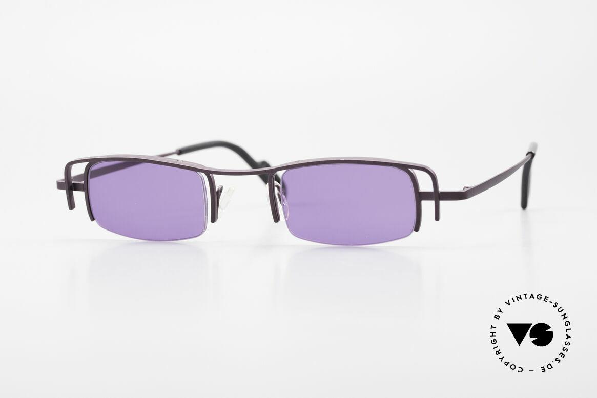Theo Belgium Winter Damen Sonnenbrille Eckig 90er, Theo Belgium: die eigenwilligste Brillenmarke, weltweit, Passend für Damen