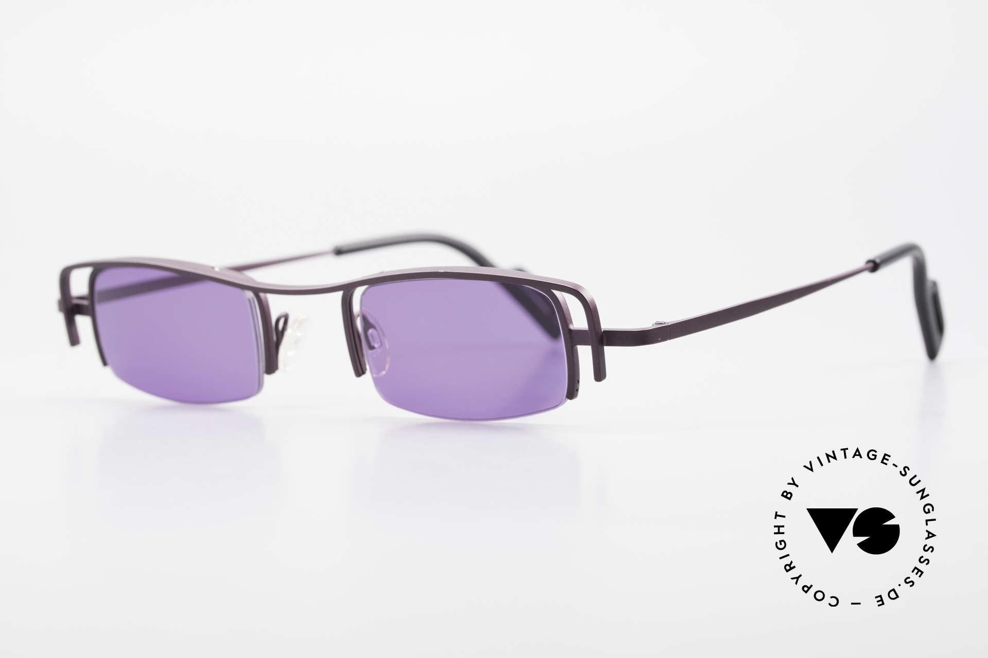 Theo Belgium Winter Damen Sonnenbrille Eckig 90er, damals gemacht für die 'Avantgarde' und Individualisten, Passend für Damen