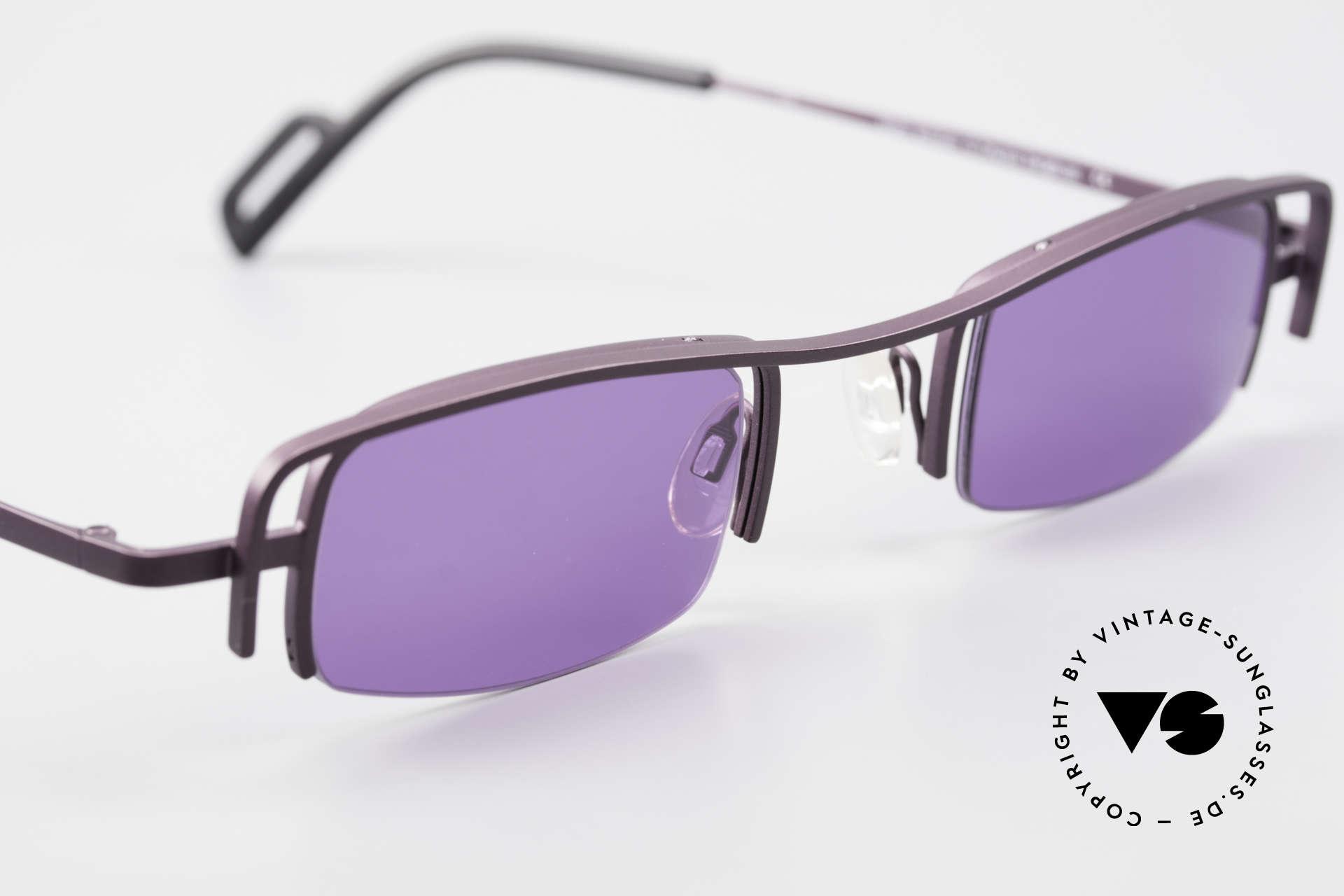 Theo Belgium Winter Damen Sonnenbrille Eckig 90er, ungetragenes Theo-Einzelstück für die, die sich trauen!, Passend für Damen