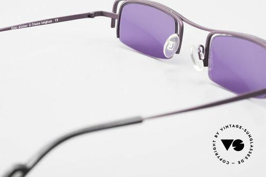 Theo Belgium Winter Damen Sonnenbrille Eckig 90er, sozusagen: VINTAGE Sonnenbrille mit Symbol-Charakter, Passend für Damen