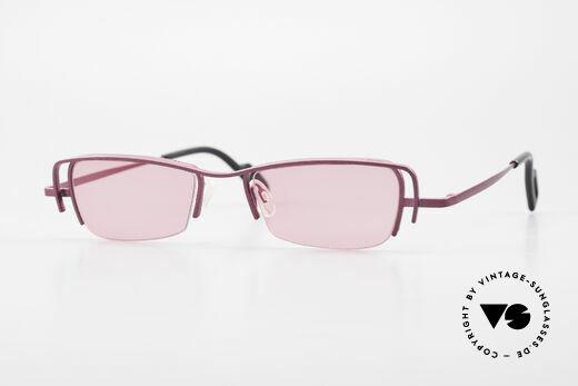 Theo Belgium Sping 90er Damen Sonnenbrille Eckig Details