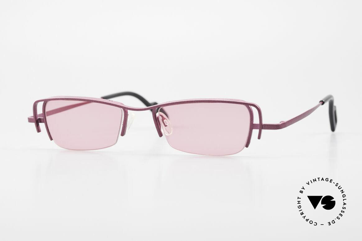 Theo Belgium Sping 90er Damen Sonnenbrille Eckig, Theo Belgium: die eigenwilligste Brillenmarke, weltweit, Passend für Damen