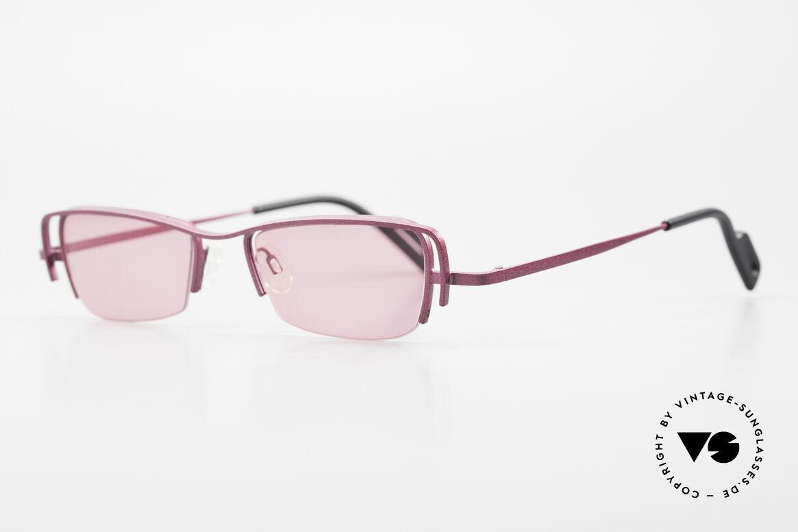 Theo Belgium Sping 90er Damen Sonnenbrille Eckig, damals gemacht für die 'Avantgarde' und Individualisten, Passend für Damen
