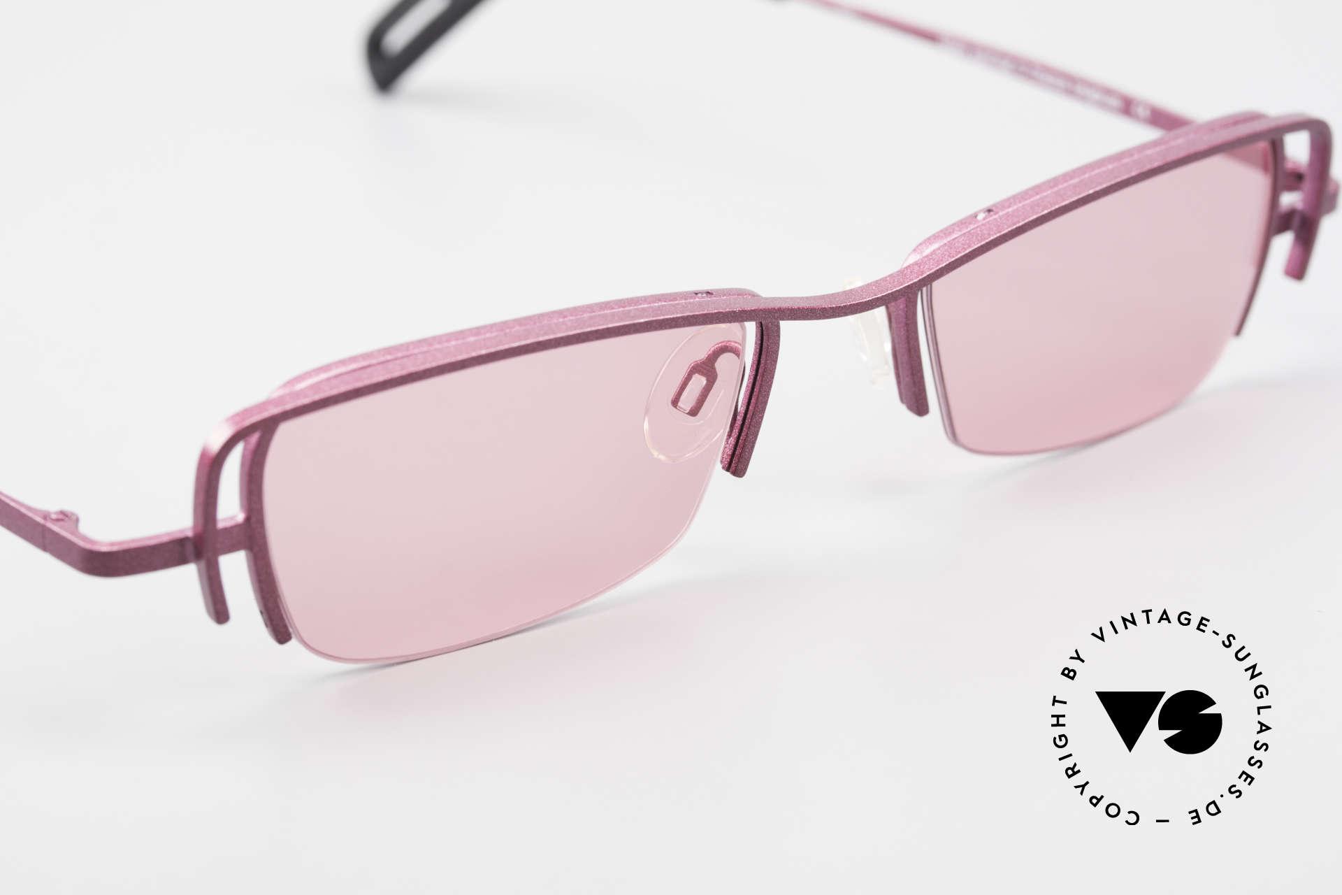 Theo Belgium Sping 90er Damen Sonnenbrille Eckig, ungetragenes Theo-Einzelstück für die, die sich trauen!, Passend für Damen