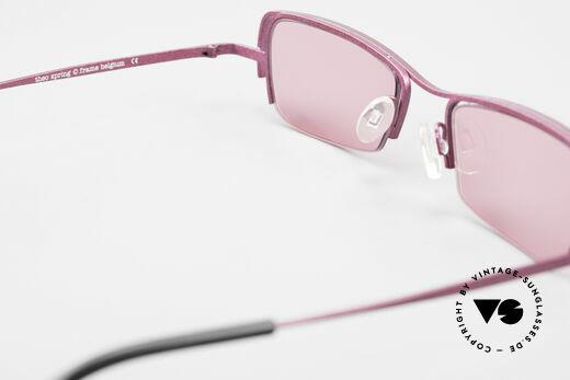 Theo Belgium Sping 90er Damen Sonnenbrille Eckig, sozusagen: VINTAGE Sonnenbrille mit Symbol-Charakter, Passend für Damen