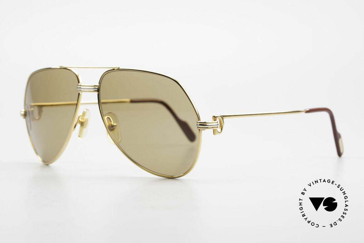 Cartier Vendome LC - M Cartierglas Mit Hauch Zeichen, 22kt vergoldet mit LC-Dekor in Medium Gr. 59-14, 140, Passend für Herren