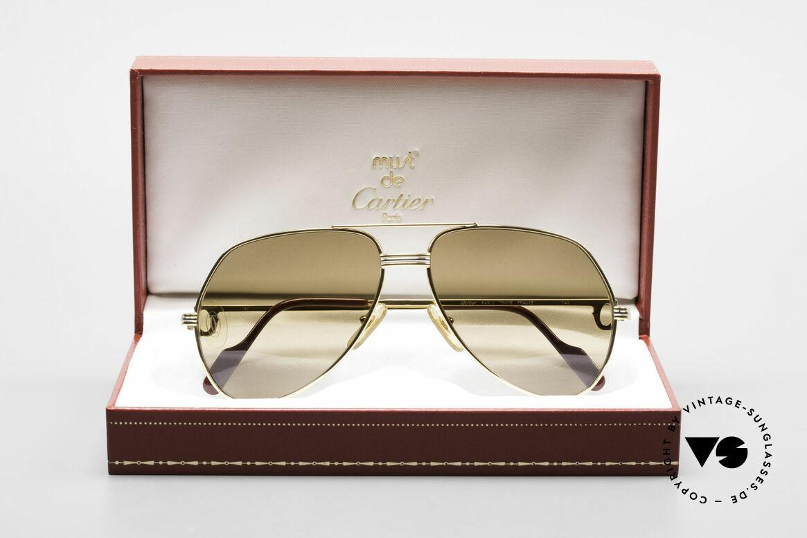 Cartier Vendome LC - M Cartierglas Mit Hauch Zeichen, KEINE Retrobrille, sondern ein altes Cartier ORIGINAL, Passend für Herren