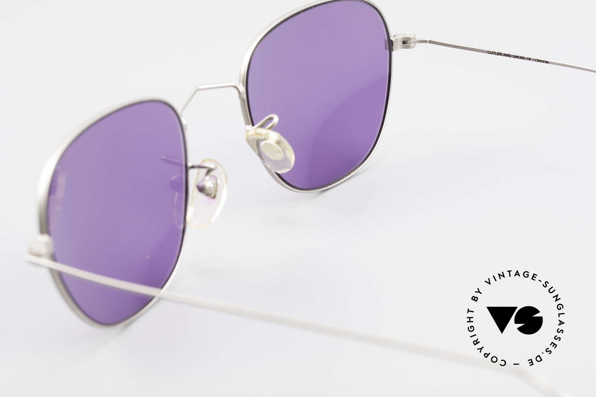 Cutler And Gross 0307 Klassische Vintage Brille 90er, KEINE Retrobrille, sondern ein 20 Jahre altes Original!, Passend für Herren und Damen