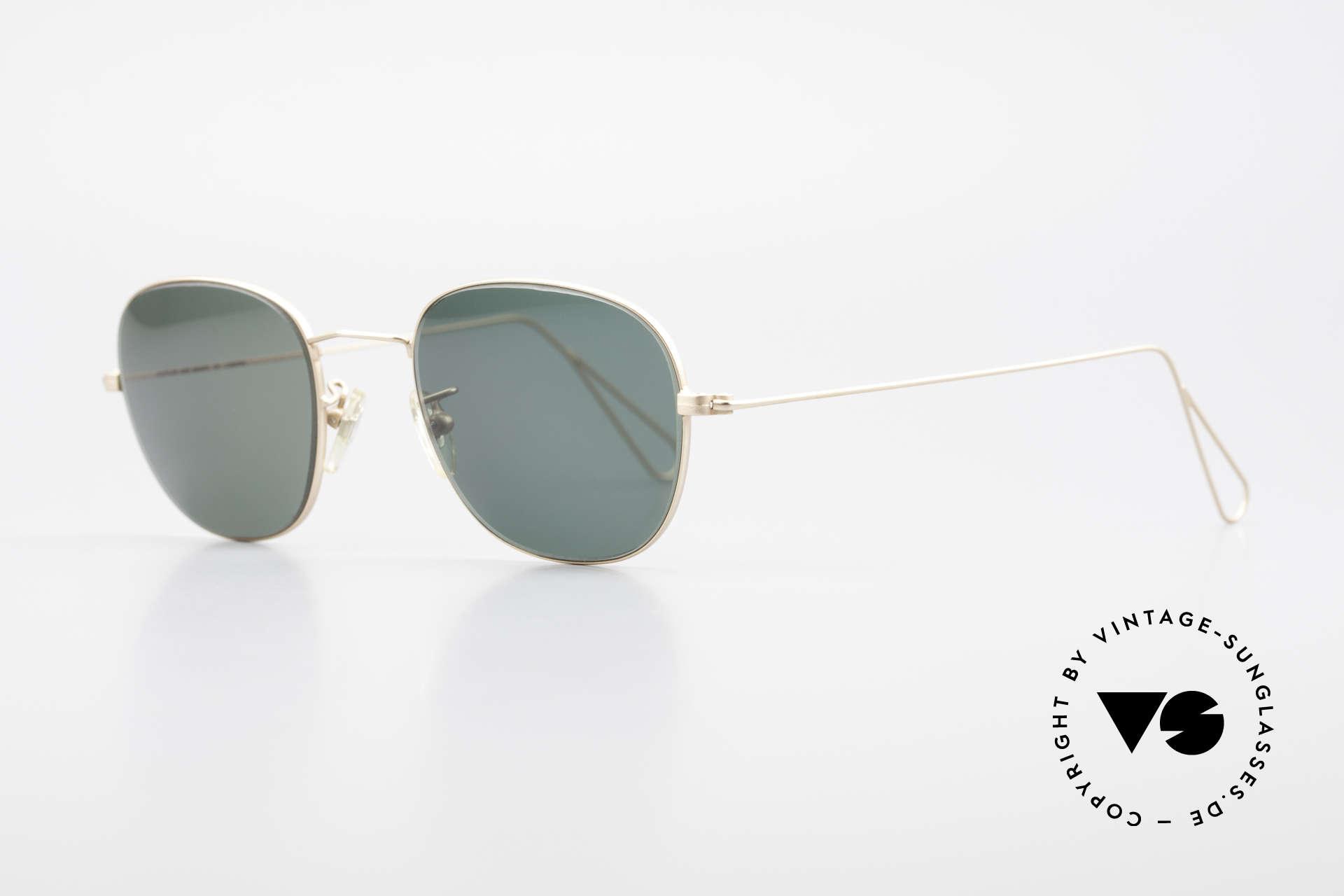 Cutler And Gross 0307 Klassische 90er Vintage Brille, stilvoll & unverwechselbar; auch ohne pompöse Logos, Passend für Herren und Damen
