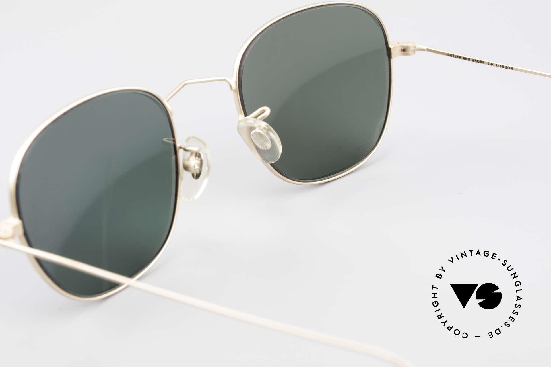 Cutler And Gross 0307 Klassische 90er Vintage Brille, KEINE Retrobrille, sondern ein 20 Jahre altes Original!, Passend für Herren und Damen