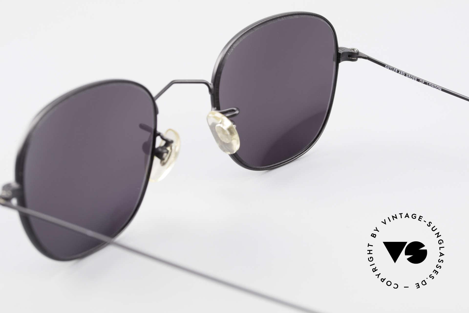 Cutler And Gross 0307 Alte Vintage Sonnenbrille 90er, KEINE Retrobrille, sondern ein 20 Jahre altes Original!, Passend für Herren und Damen