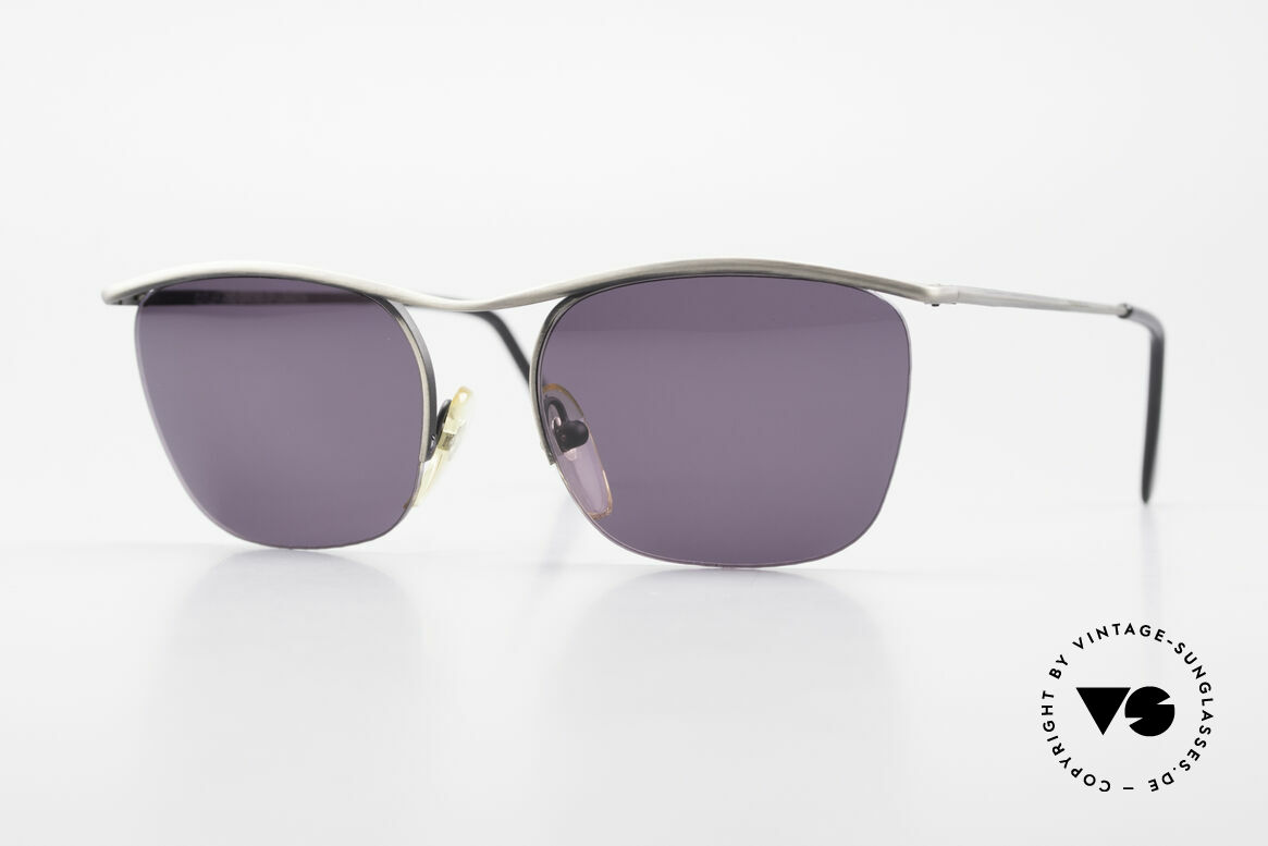 Cutler And Gross 0267 Halb Rahmenlose Sonnenbrille, Cutler & Gross London Designerbrille der späten 90er, Passend für Herren und Damen