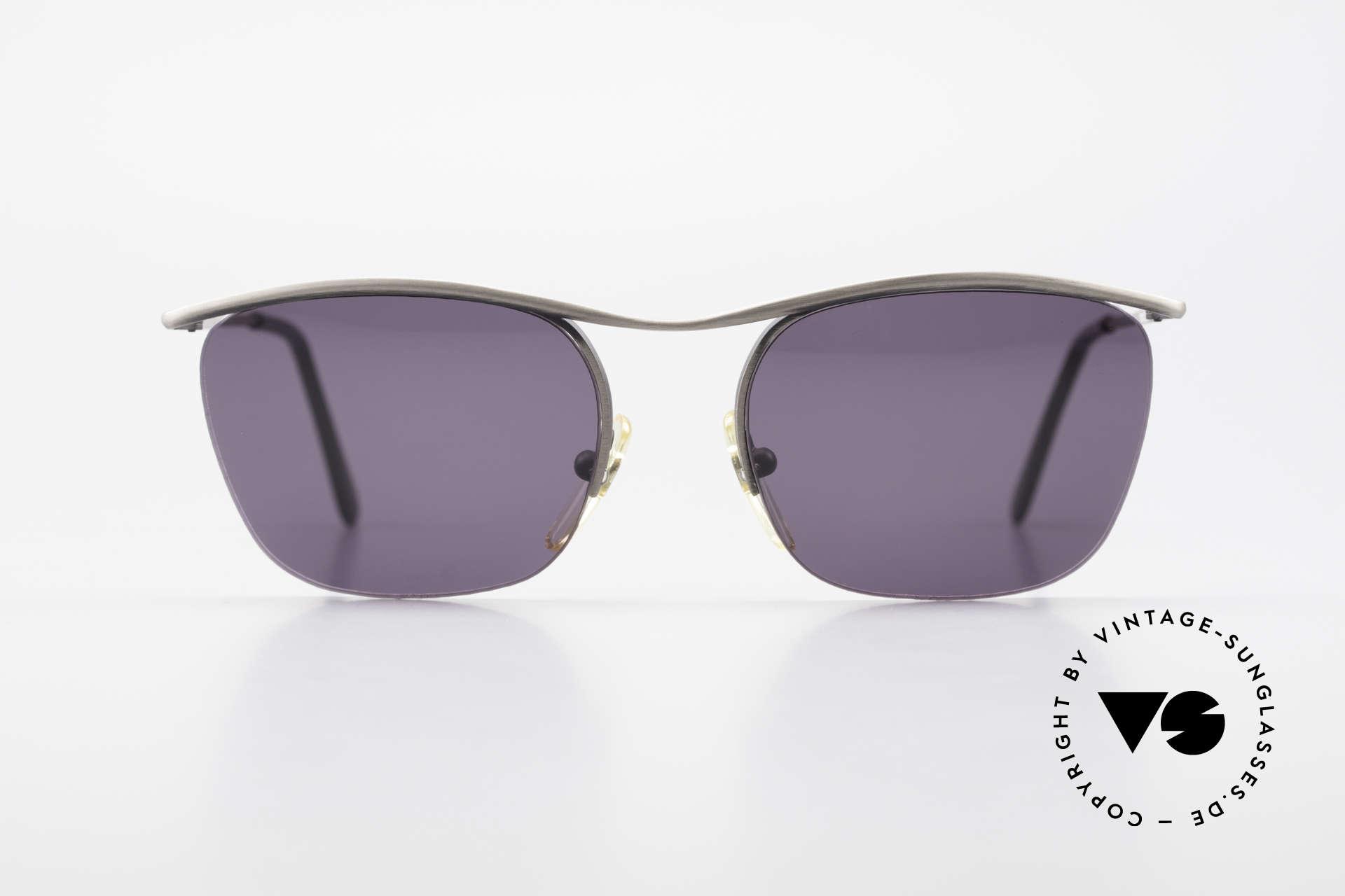 Cutler And Gross 0267 Halb Rahmenlose Sonnenbrille, klassisch, zeitlose Understatement Luxus-Sonnenbrille, Passend für Herren und Damen