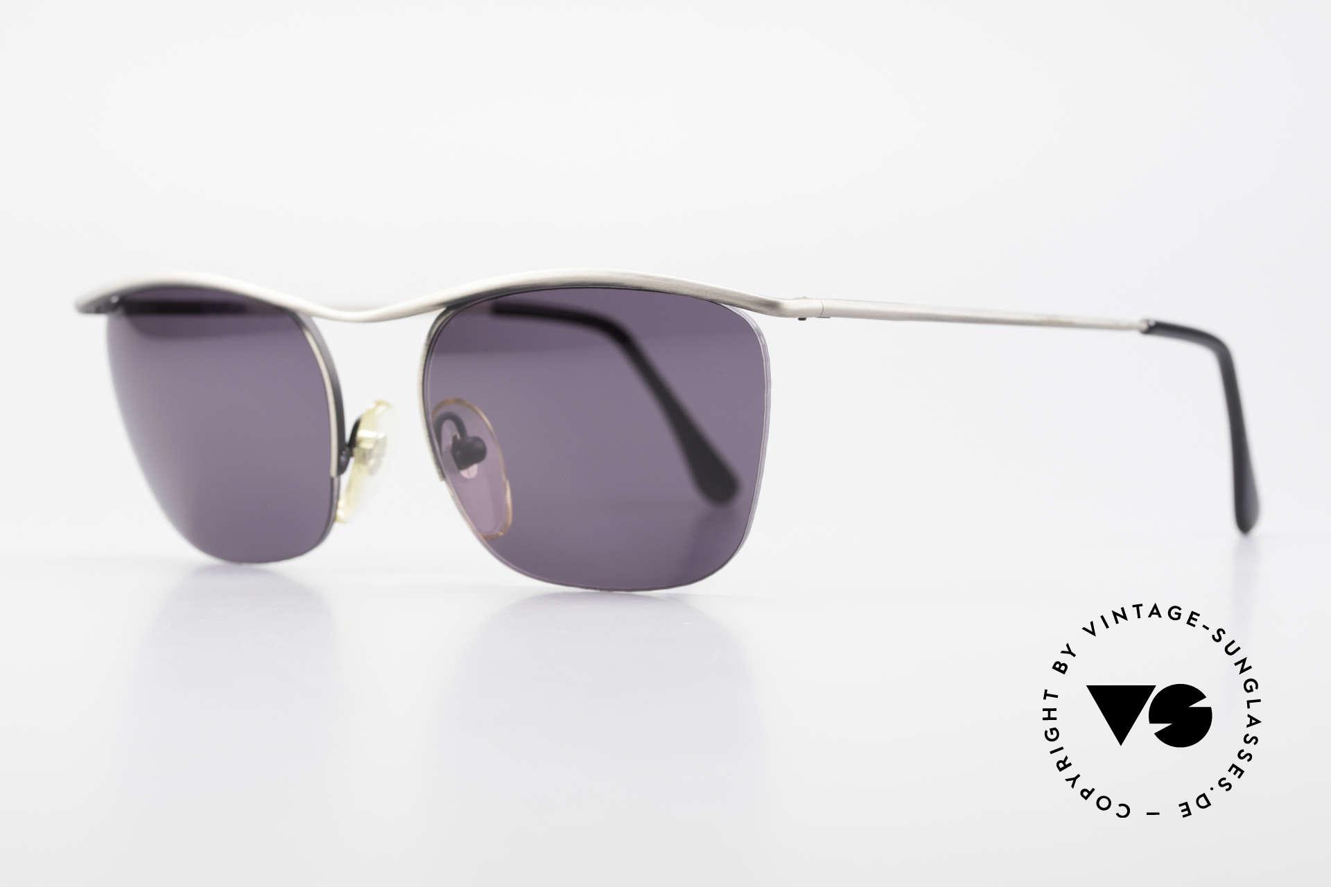 Cutler And Gross 0267 Halb Rahmenlose Sonnenbrille, stilvoll & unverwechselbar; auch ohne pompöse Logos, Passend für Herren und Damen