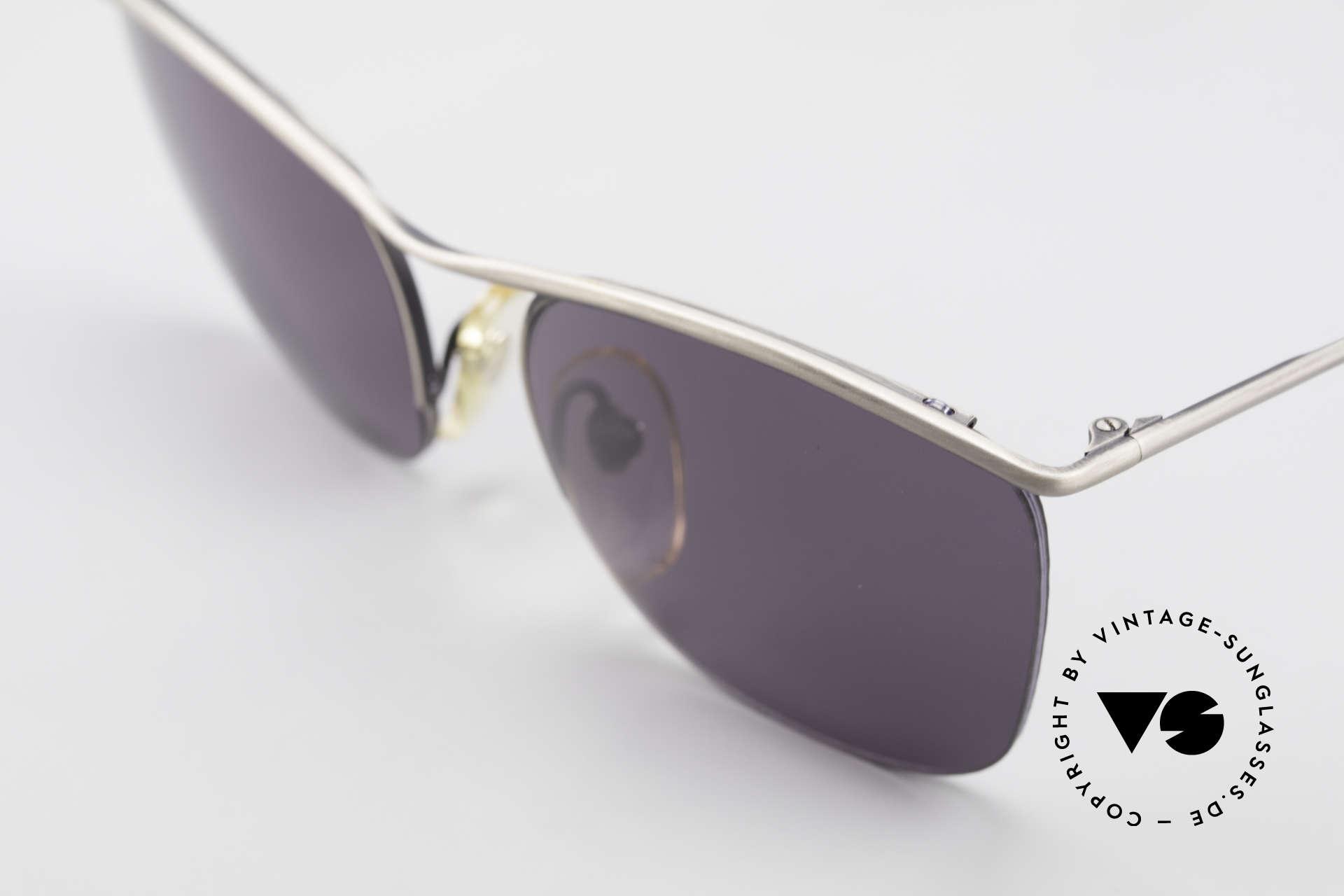 Cutler And Gross 0267 Halb Rahmenlose Sonnenbrille, halb randlos: Gläser sind mit einem Nylor-Faden gefasst, Passend für Herren und Damen