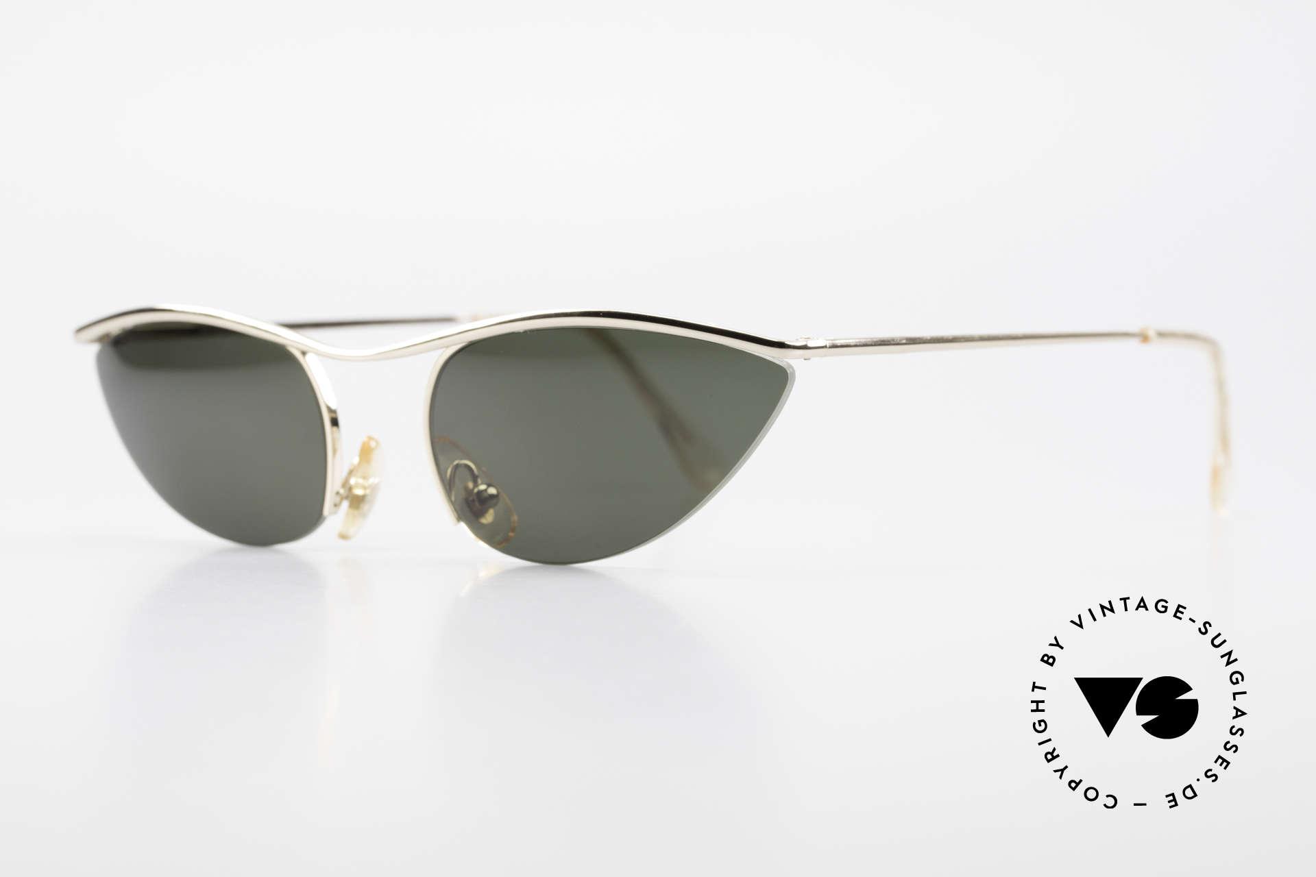 Cutler And Gross 0359 Cateye Designer Sonnenbrille, stilvoll & unverwechselbar; auch ohne pompöse Logos, Passend für Damen