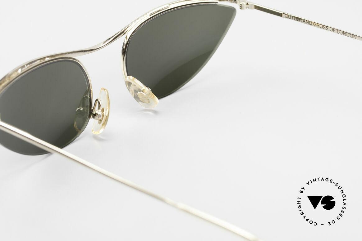 Cutler And Gross 0359 Cateye Designer Sonnenbrille, ungetragen; Modell ist auch beliebig optisch verglasbar, Passend für Damen