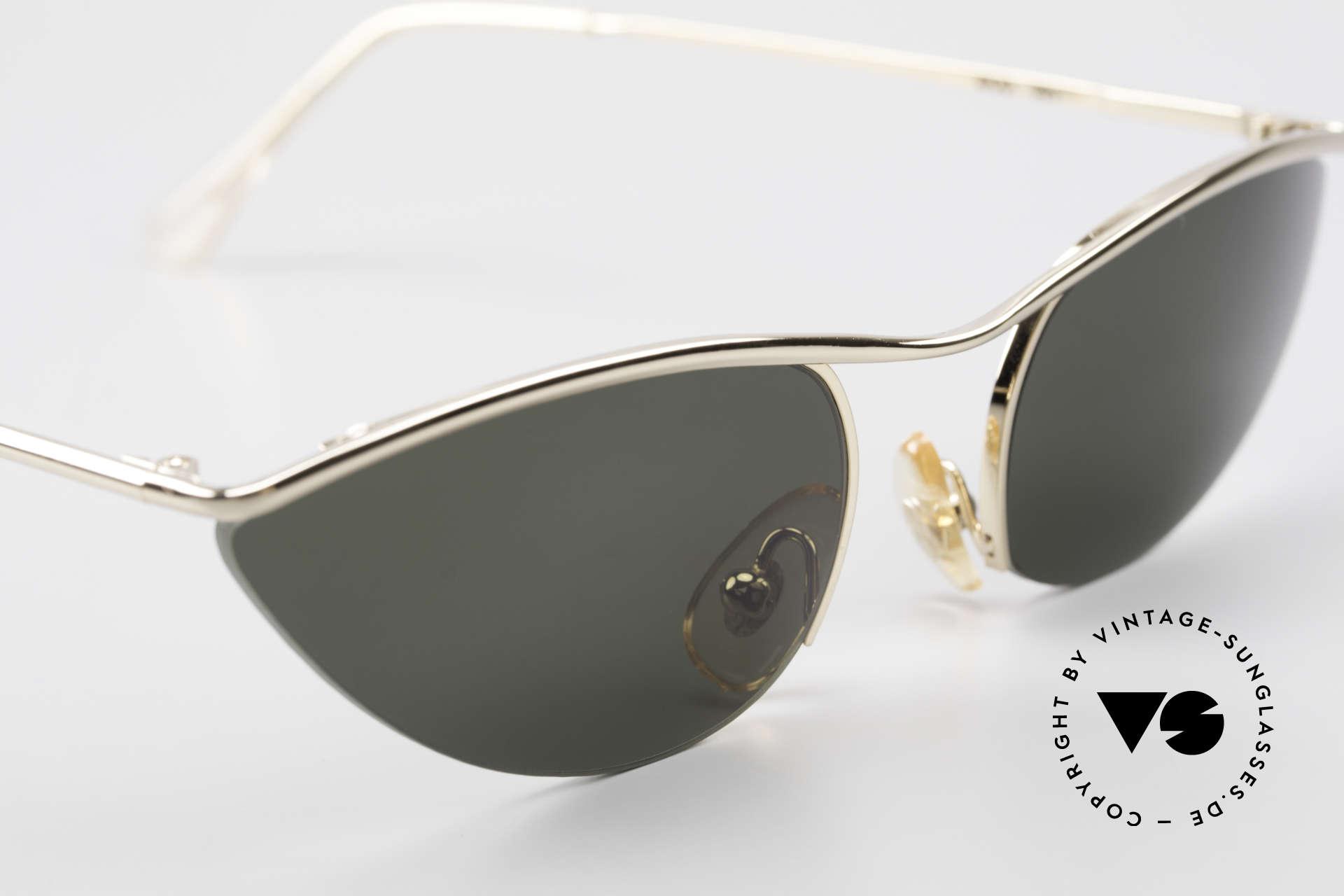Cutler And Gross 0359 Cateye Designer Sonnenbrille, KEINE Retrobrille, sondern ein 20 Jahre altes Original!, Passend für Damen