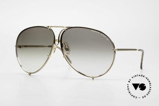 Porsche 5621 XL Gold Piloten Sonnenbrille Details