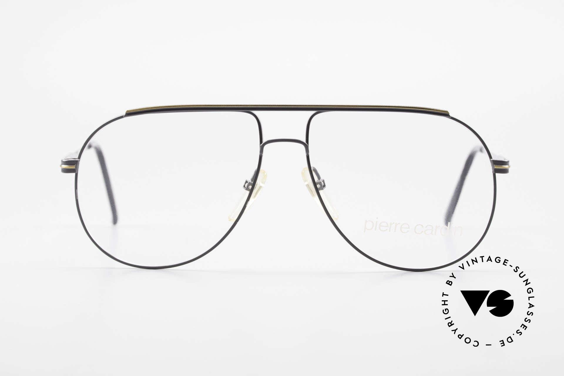 Pierre Cardin 803 80er Tropfenform Herrenbrille, klassische Tropfenform od. auch Aviator-Brille, Passend für Herren