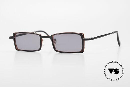 Theo Belgium Tarot Eckige Designer Sonnenbrille Details