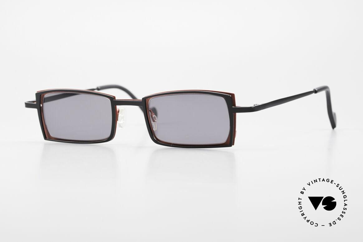 Theo Belgium Tarot Eckige Designer Sonnenbrille, Theo Belgium: die eigenwilligste Brillenmarke, weltweit, Passend für Herren und Damen