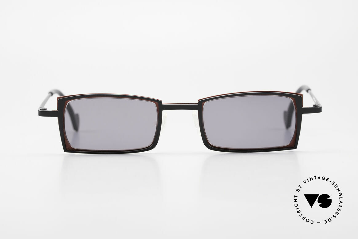 Theo Belgium Tarot Eckige Designer Sonnenbrille, 1989 gegründet als GEGENPOL zum üblich 'Mainstream', Passend für Herren und Damen