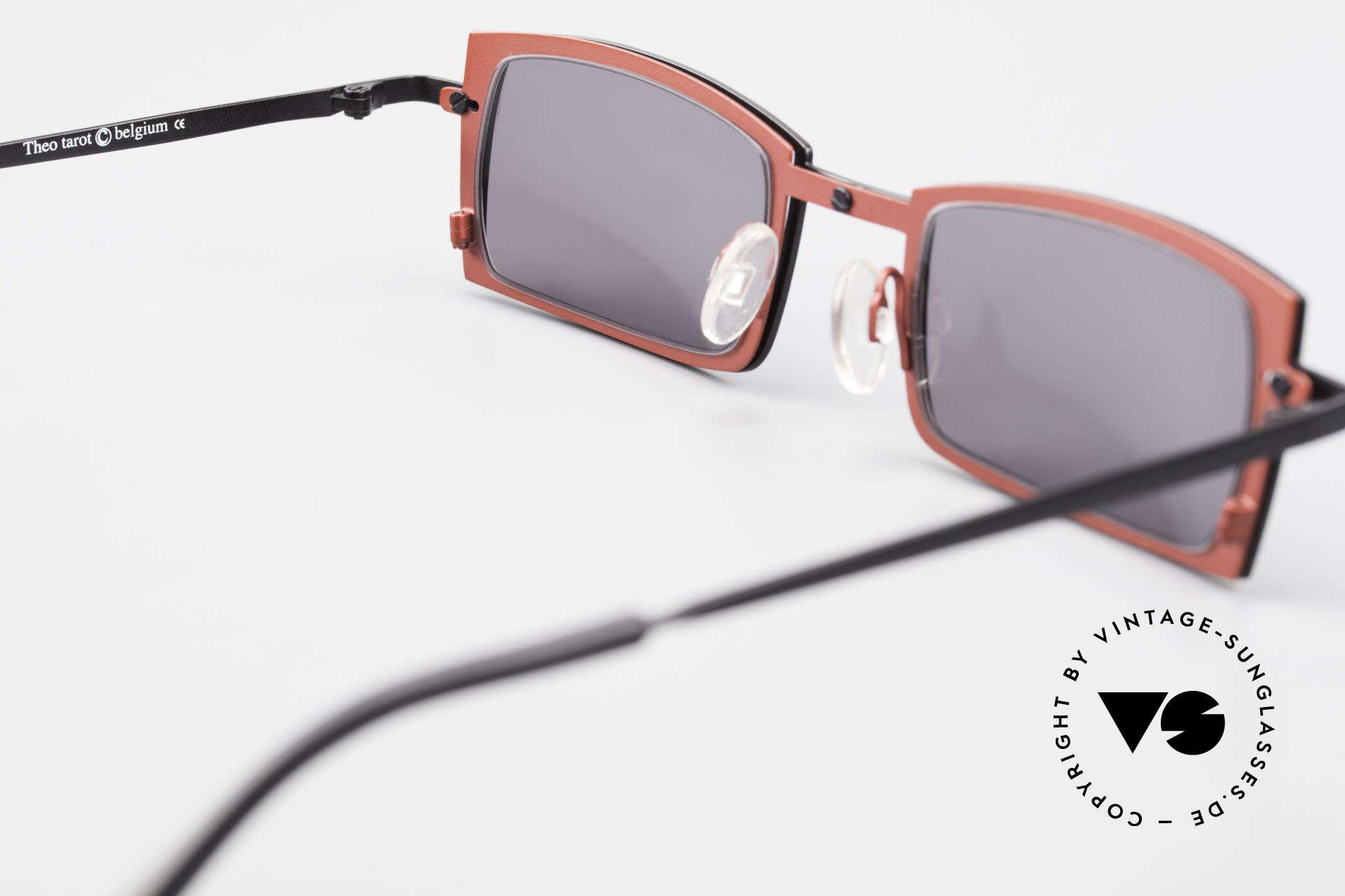 Theo Belgium Tarot Eckige Designer Sonnenbrille, sozusagen: VINTAGE Sonnenbrille mit Symbol-Charakter, Passend für Herren und Damen