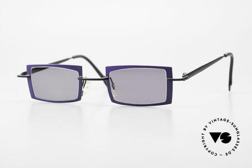 Theo Belgium Arbour Knot Designer Sonnenbrille Violett Details