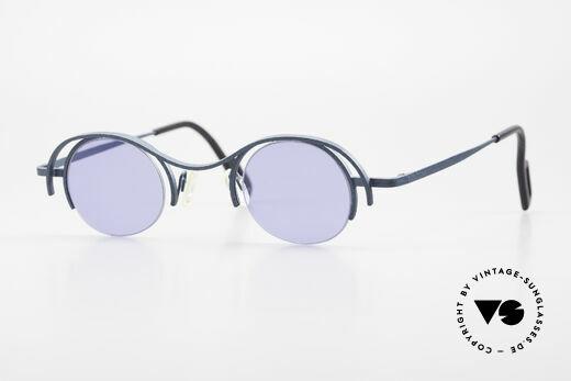 Theo Belgium Summer 90er Damen Sonnenbrille Rund Details