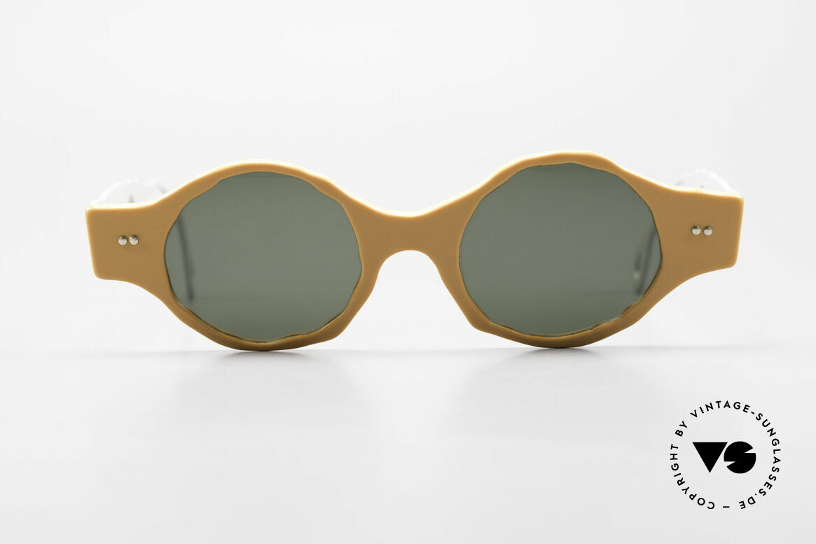 Theo Belgium Eye-Witness BK51 Vintage Designer Sonnenbrille, 1989 gegründet als GEGENPOL zum üblich 'Mainstream', Passend für Herren und Damen