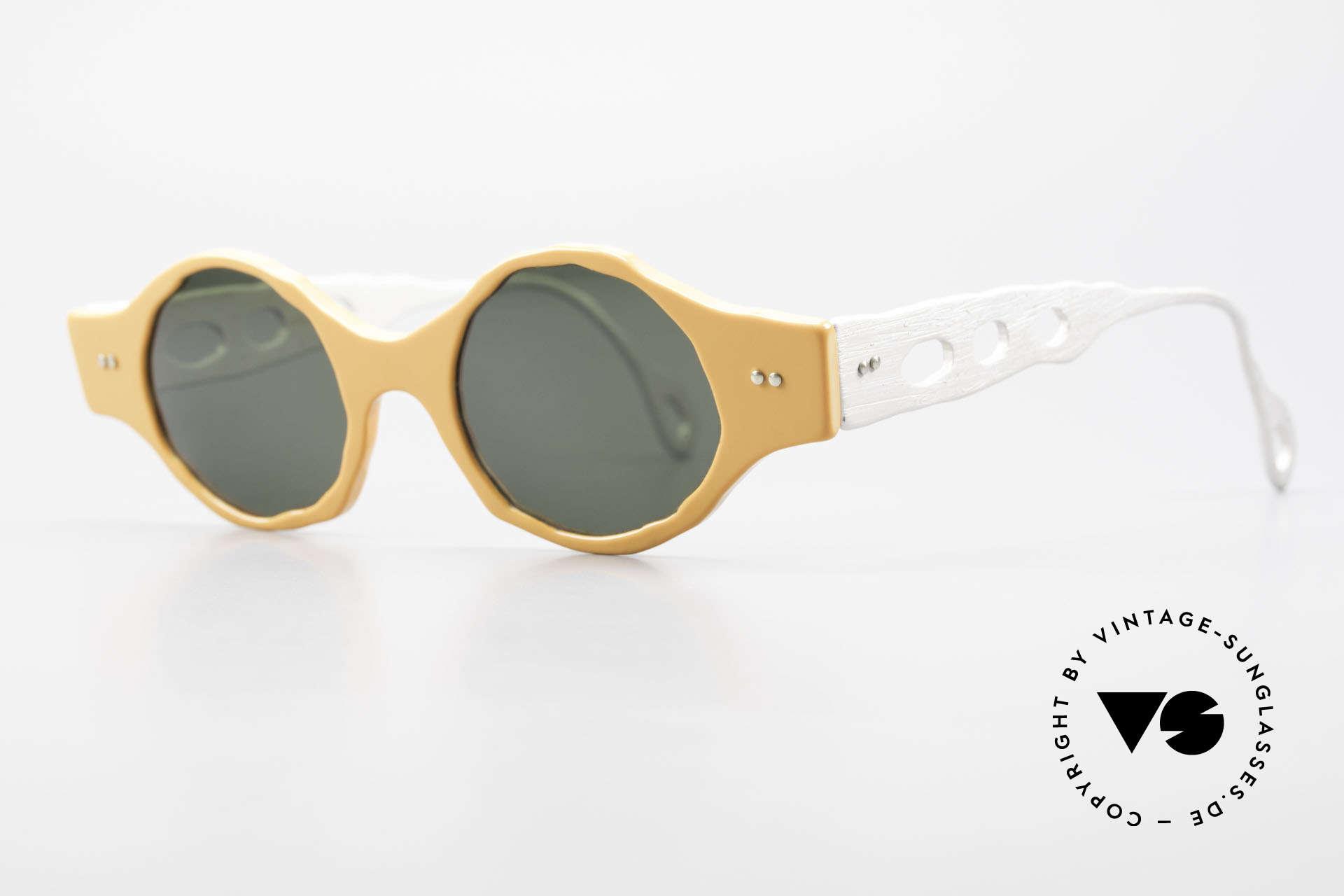 Theo Belgium Eye-Witness BK51 Vintage Designer Sonnenbrille, damals gemacht für die 'Avantgarde' und Individualisten, Passend für Herren und Damen