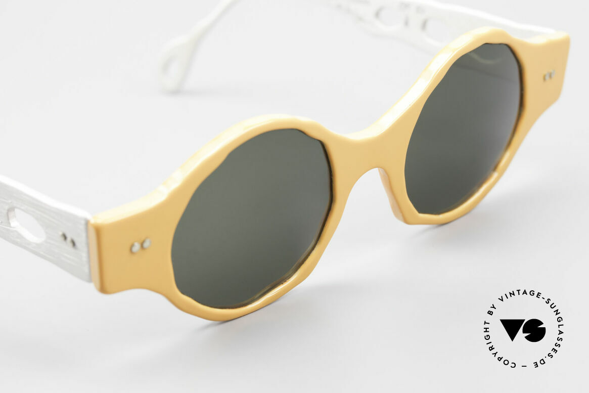 Theo Belgium Eye-Witness BK51 Vintage Designer Sonnenbrille, ungetragenes Theo-Einzelstück für die, die sich trauen ;), Passend für Herren und Damen