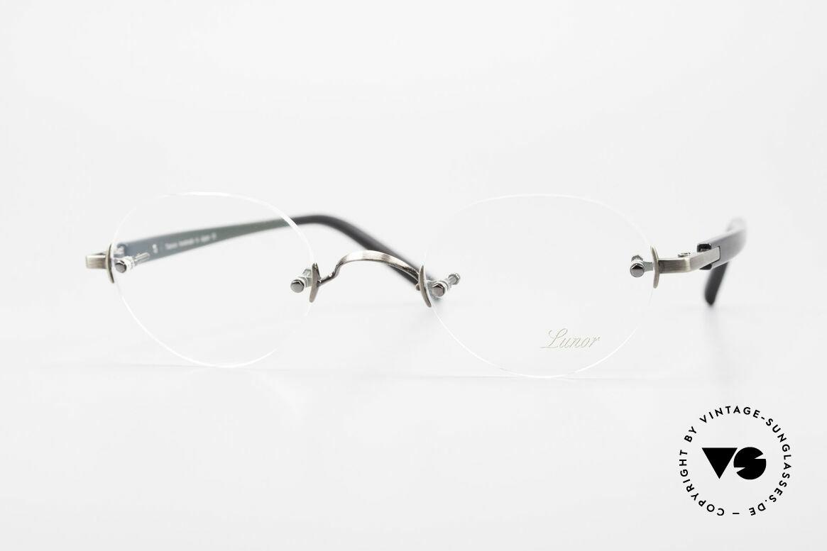 Lunor Classic V Panto AS Randlose Panto Brille Unisex, LUNOR = ehrliches Handwerk mit Liebe zum Detail, Passend für Herren und Damen