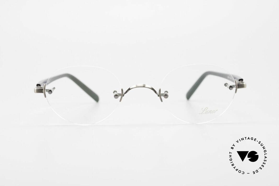 Lunor Classic V Panto AS Randlose Panto Brille Unisex, ohne große Logos; stattdessen mit zeitloser Eleganz, Passend für Herren und Damen