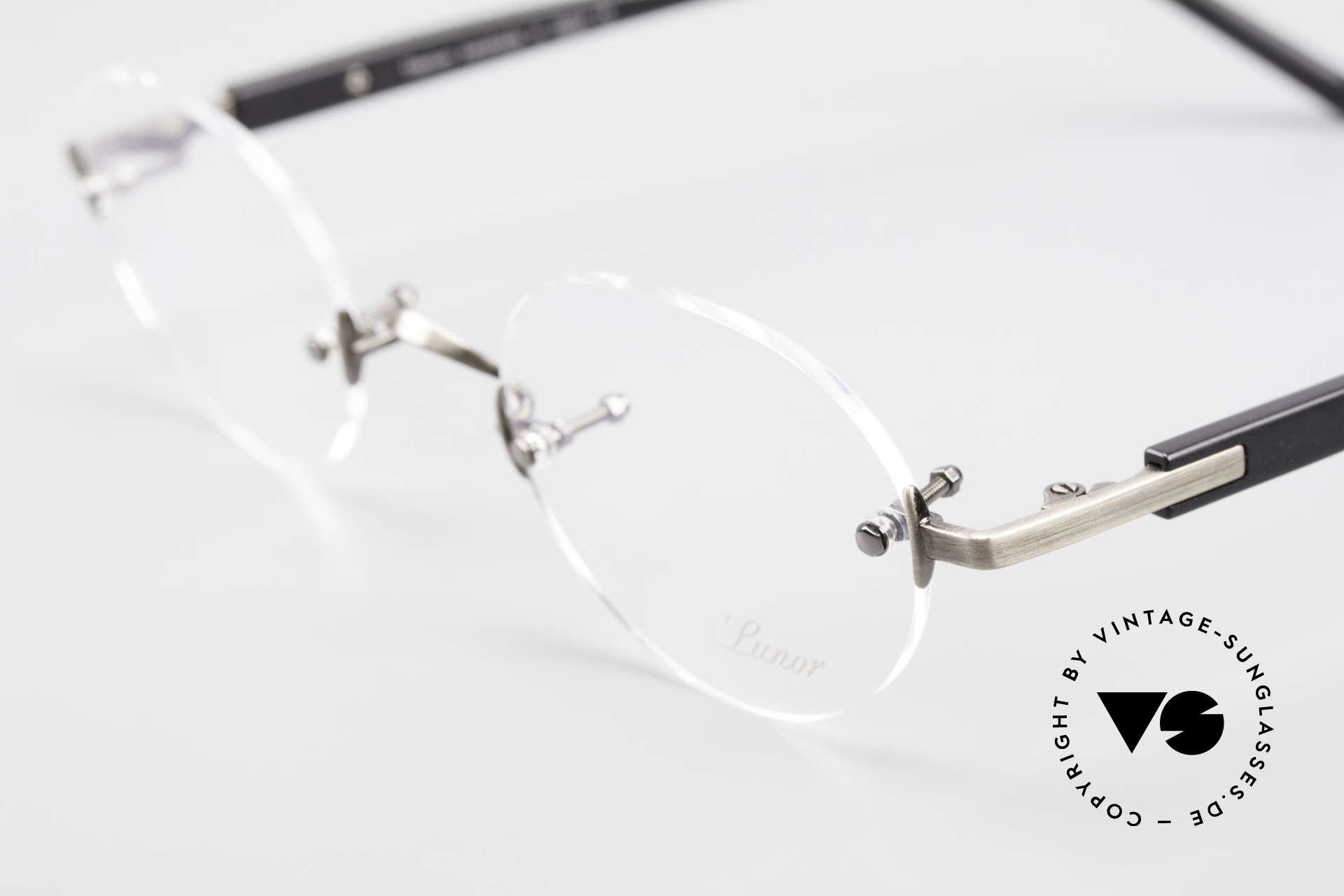 Lunor Classic V Panto AS Randlose Panto Brille Unisex, aus der 2015er Kollektion in altbekannter Qualität, Passend für Herren und Damen