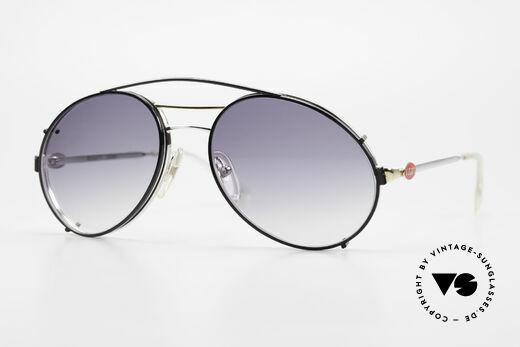 Bugatti 65984 80er Brille Mit Sonnen-Clip Details
