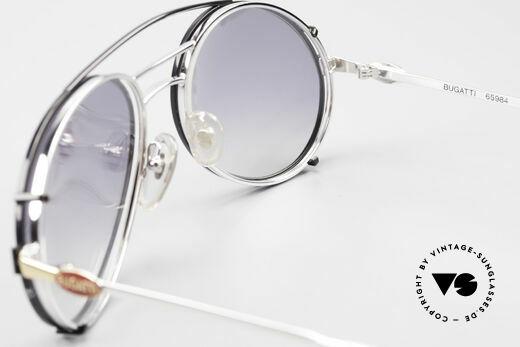Bugatti 65984 80er Brille Mit Sonnen-Clip, KEINE Retrobrille; sondern ein altes 1980er Original, Passend für Herren